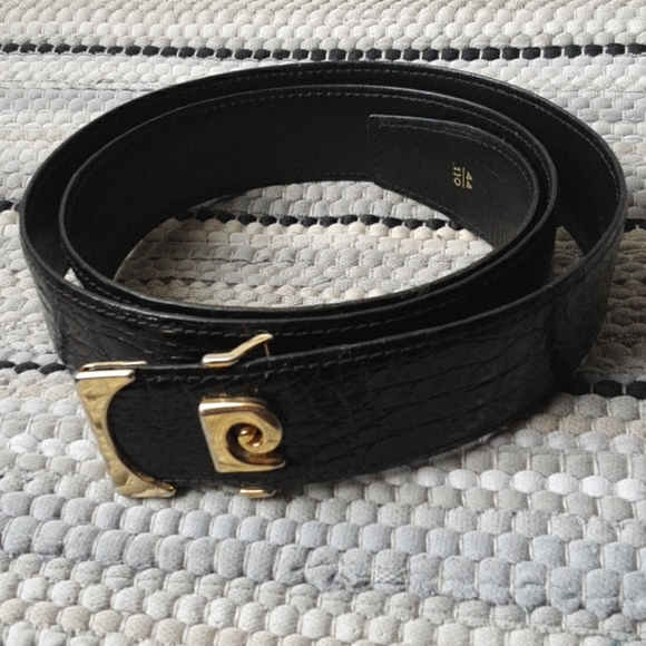 Pierre Cardin Paris Monogram Signature  Logo Belt